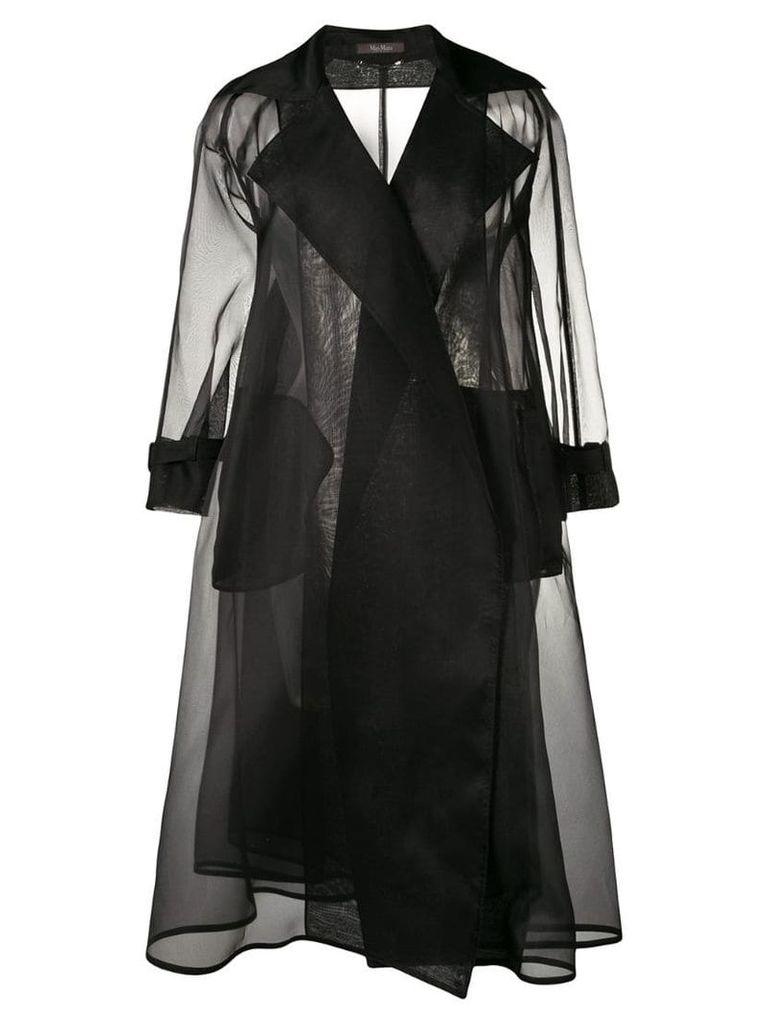 Max Mara organza trench coat - Black