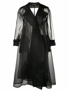 Max Mara organza trench coat - Black
