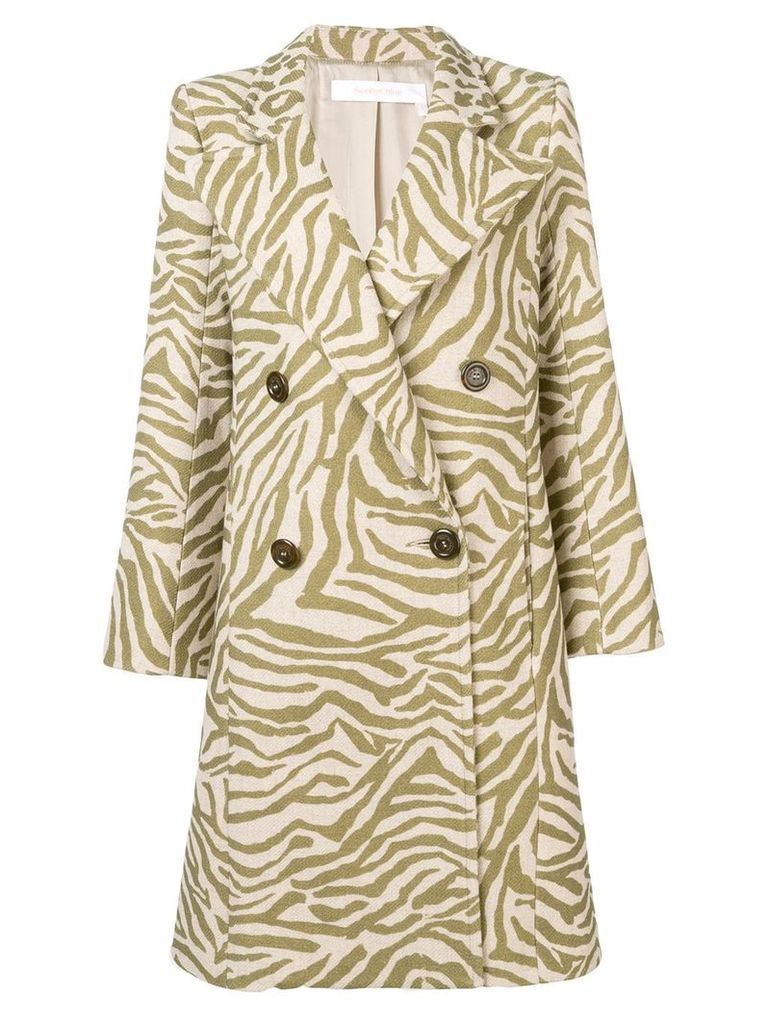 See By Chloé zebra print coat - Neutrals