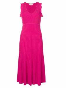 Michael Michael Kors micro-pleated flared dress - Pink