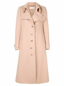 Chloé asymmetric long coat - Neutrals
