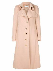 Chloé asymmetric long coat - Neutrals
