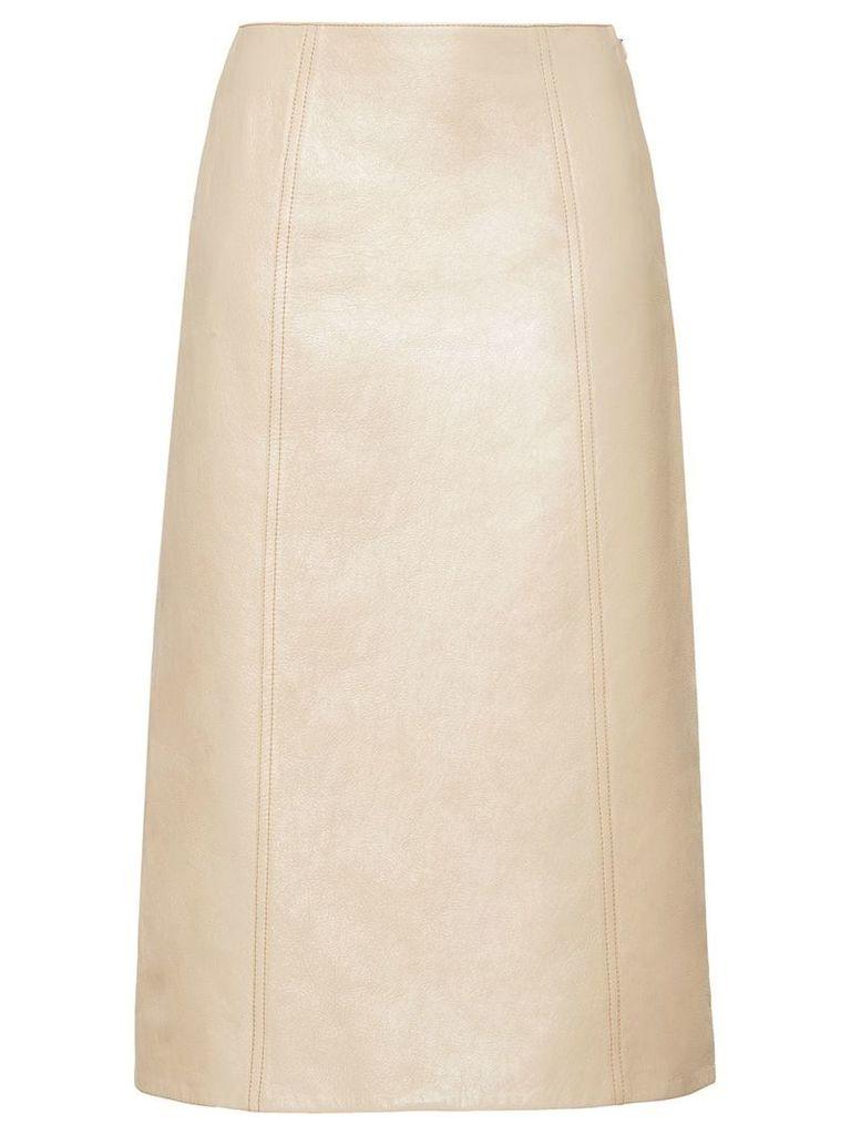 Miu Miu mid-length A-line skirt - Neutrals