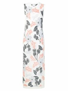 Barrie floral embroidered knitted dress - Neutrals