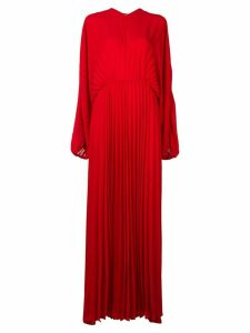 Valentino pleated evening dress - Red