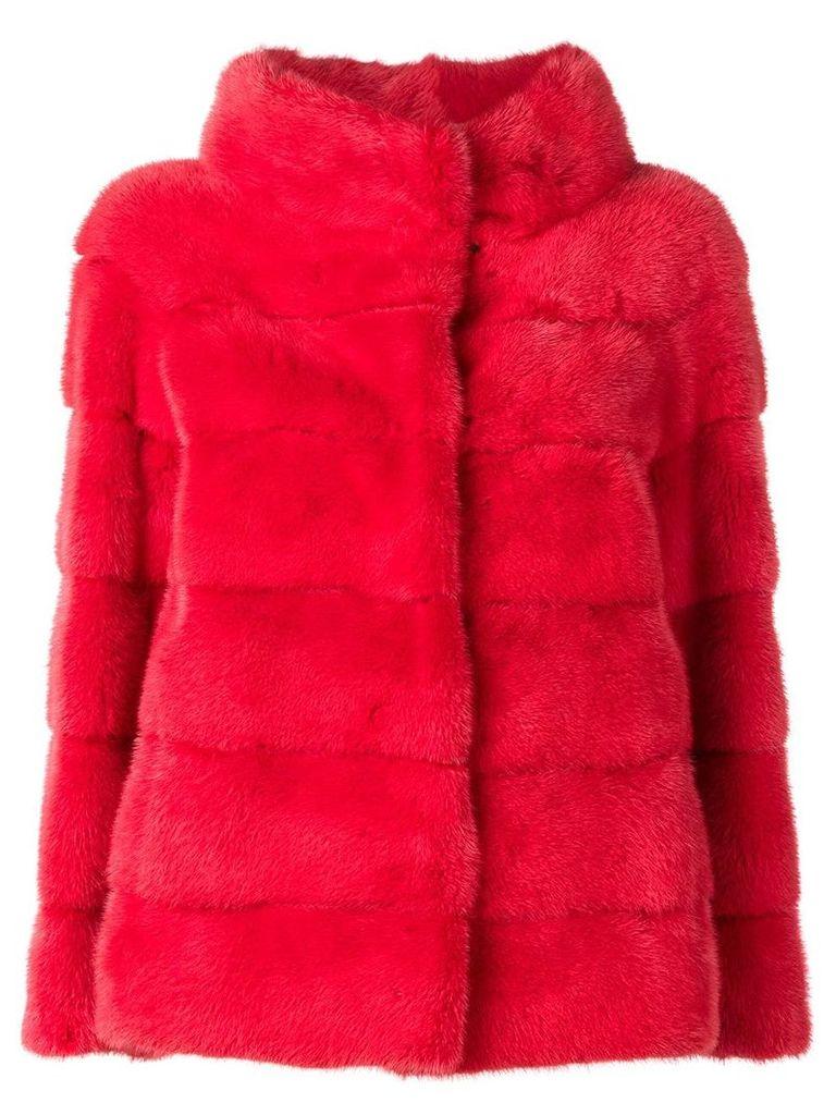Liska Philippa single-breasted coat - Red