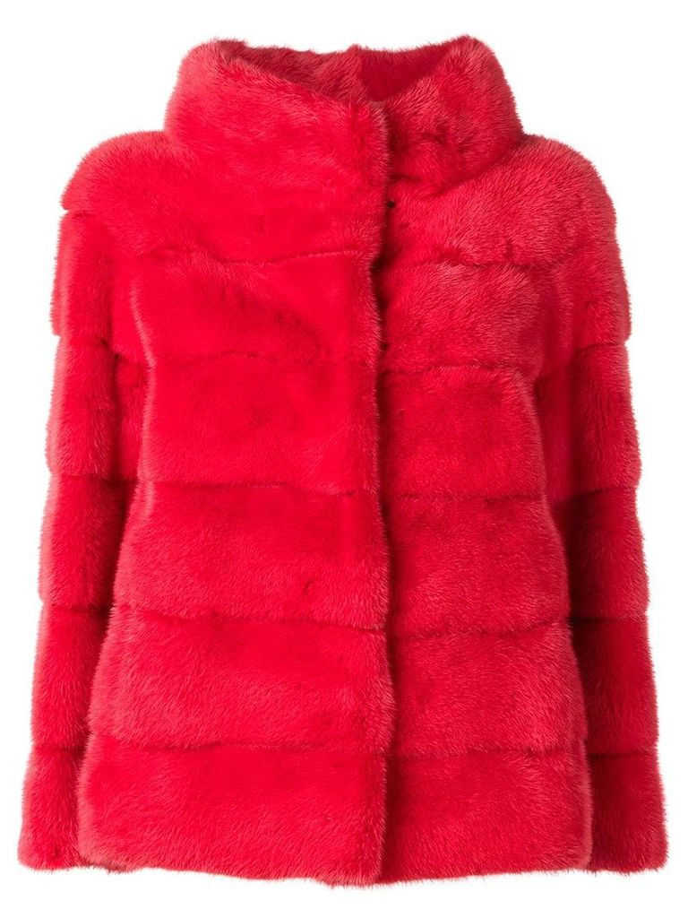 Liska Philippa single-breasted coat - Red