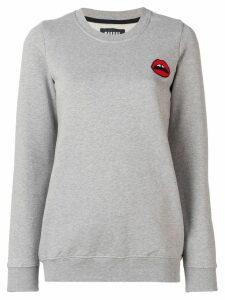 Markus Lupfer 'Red lip' sweatshirt - Grey