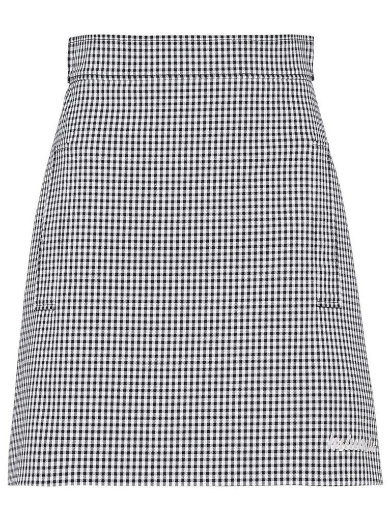 Miu Miu Vichy gingham A-line skirt - Black