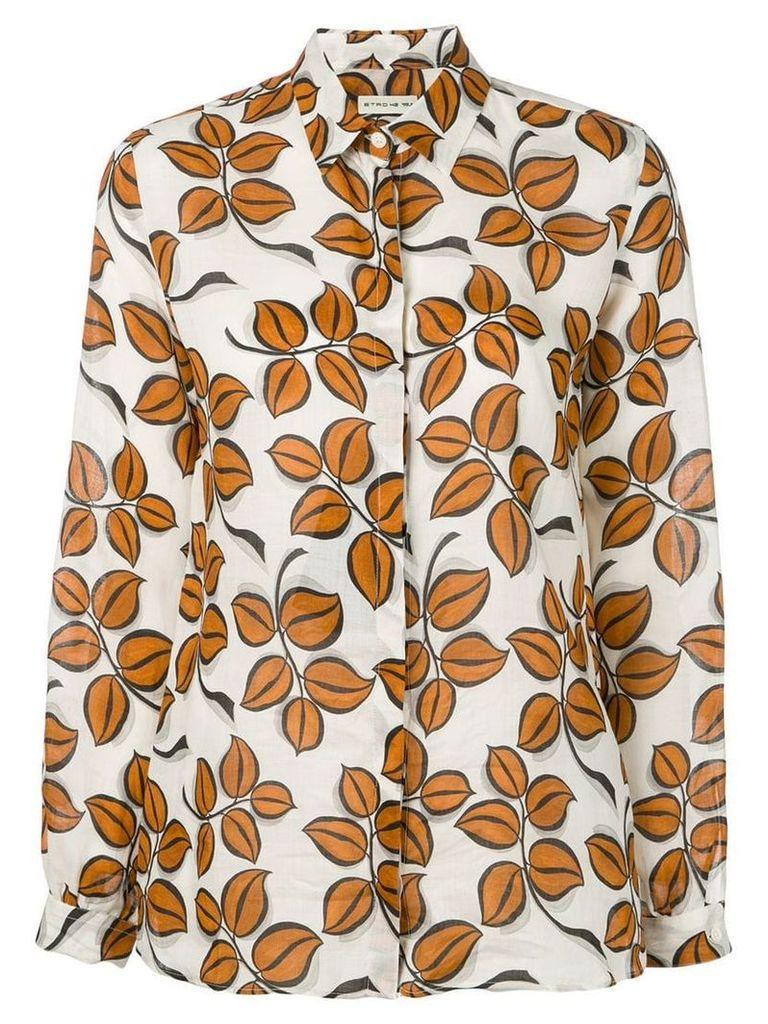 Etro floral print shirt - Brown