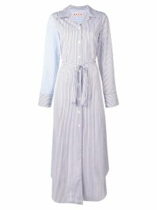 Marni striped shirt dress - Blue