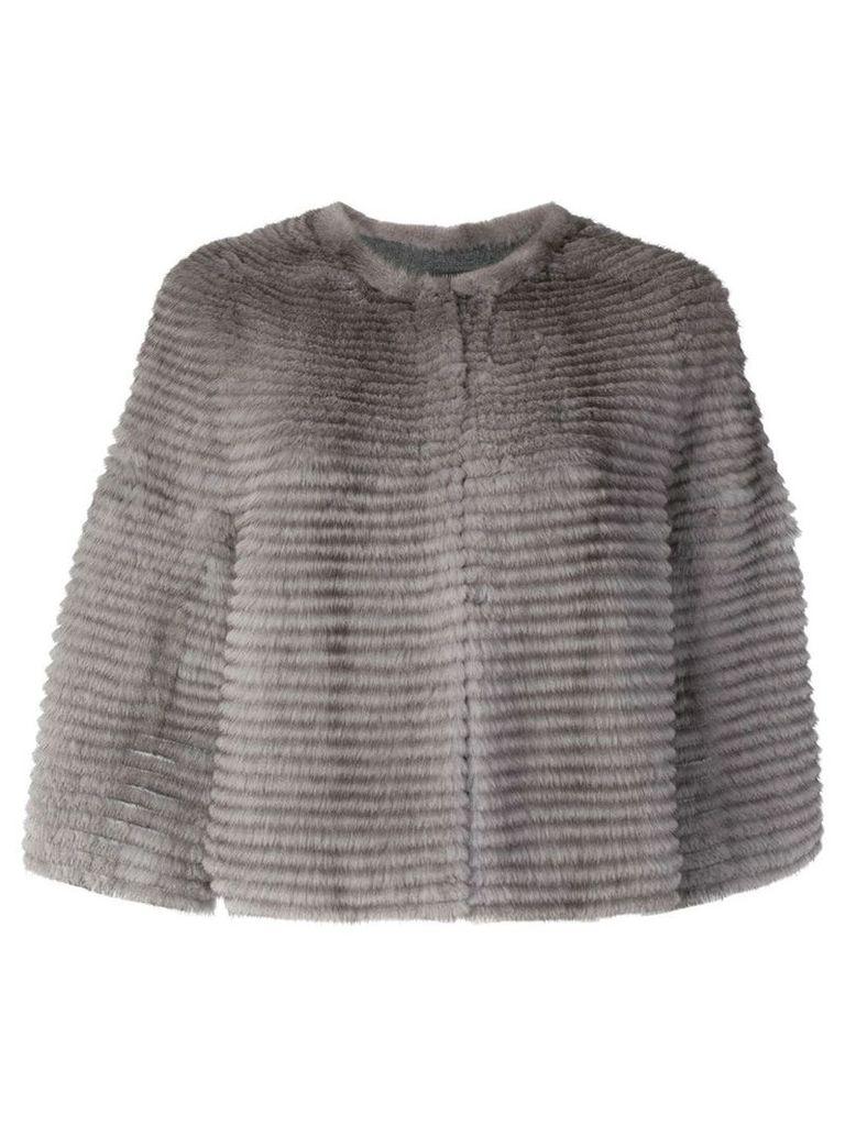 Liska Lutecia fur coat - Grey