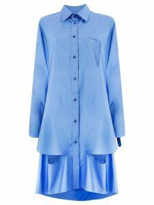 Maison Margiela cape cut-out shirt - Blue