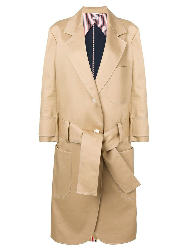 Thom Browne Oversized Mackintosh Sack Trench Coat