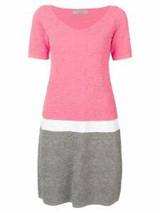 D.Exterior textured shift dress - Pink