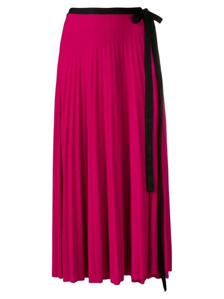 Pringle Of Scotland Pleated wrap skirt - Pink