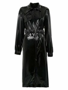 Tufi Duek vynil oversized coat - Black