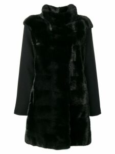 Guy Laroche Pre-Owned classic mesh coat - Black