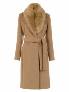 Tufi Duek fuzzy detail trench coat - Neutrals