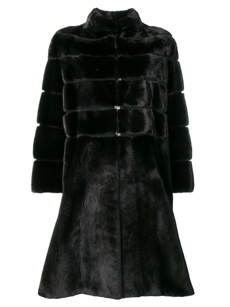 Liska Beth single-breasted coat - Black