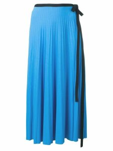 Pringle Of Scotland pleated wrap skirt - Blue