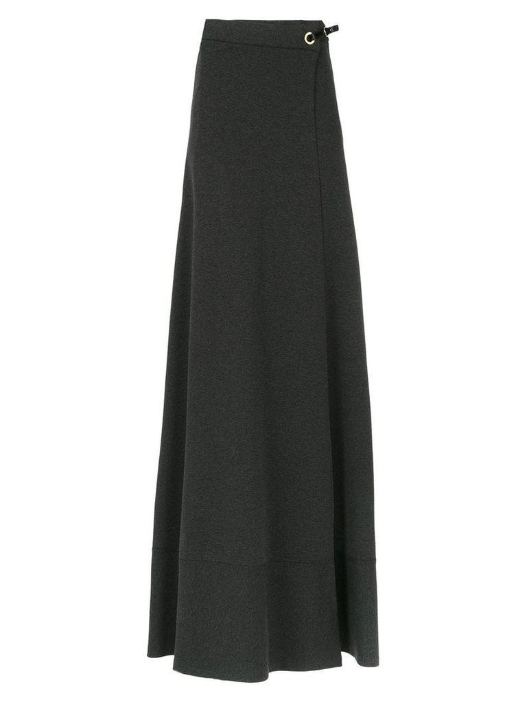 Tufi Duek long a-line skirt - Grey