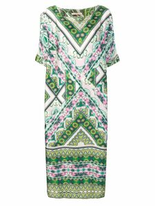 Ermanno Gallamini printed oversized maxi dress - Green