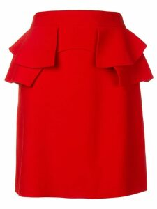 Alexander McQueen ruffled skirt - Red