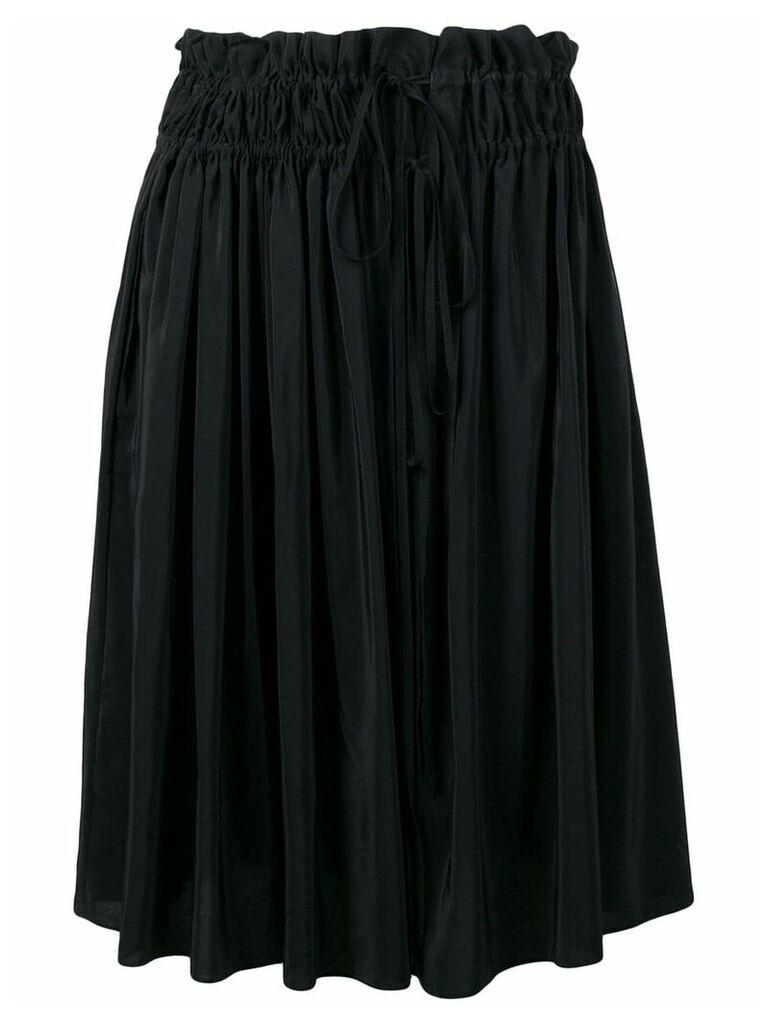 Jil Sander Navy elasticated waist skirt - Black
