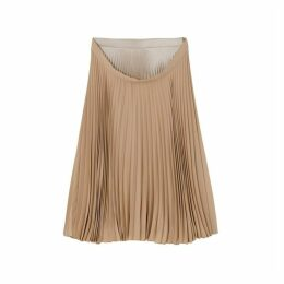 Burberry Pleated Double-waist Skirt