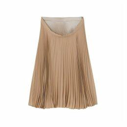 Burberry Pleated Double-waist Skirt