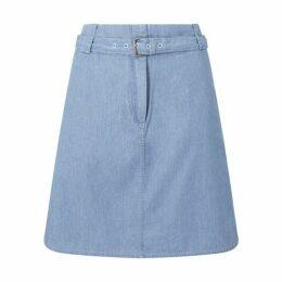 Jigsaw Denim Belted Mini Skirt