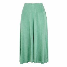 Acne Studios Mint Satin-jersey Midi Skirt