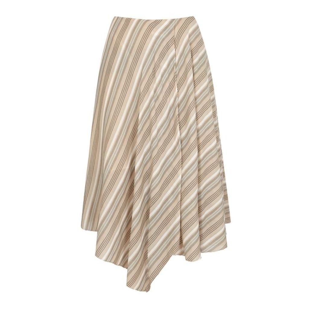 Acne Studios Striped Cotton Voile Skirt