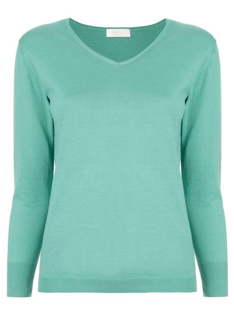 Ballsey knitted v-neck top - Green