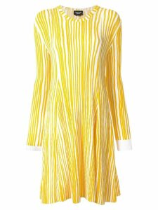 Calvin Klein 205W39nyc striped pleated dress - Yellow