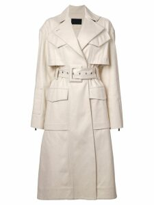 Proenza Schouler Canvas Denim Trench Coat - White