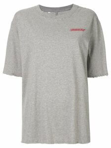 Unravel Project distressed effect T-shirt - Grey