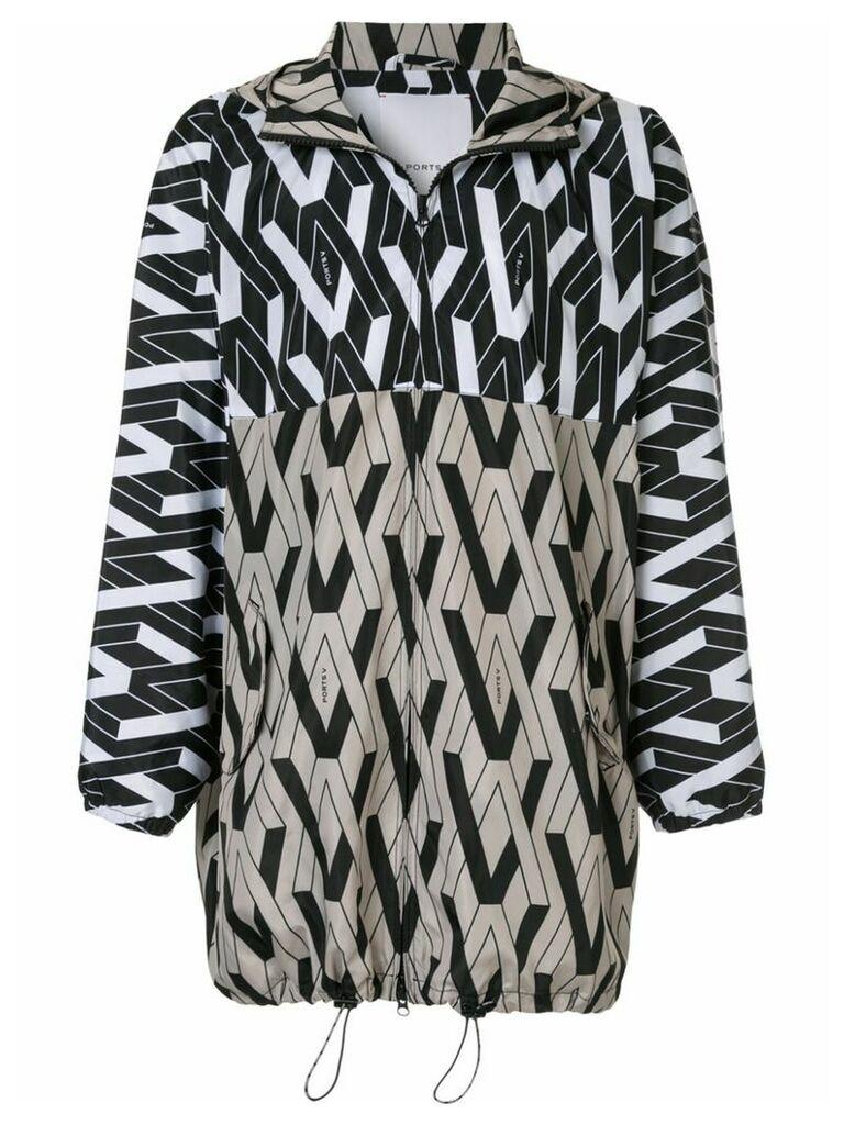Ports V hooded coat - Multicolour
