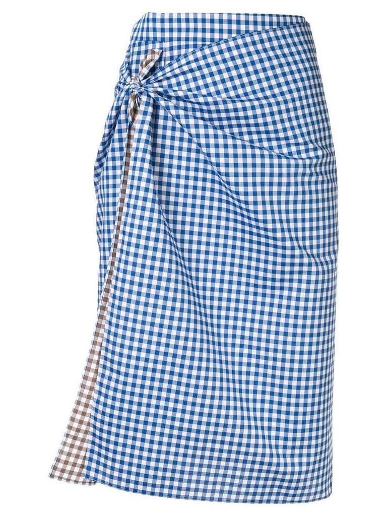 Ports 1961 gingham print skirt - Blue