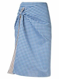 Ports 1961 gingham print skirt - Blue