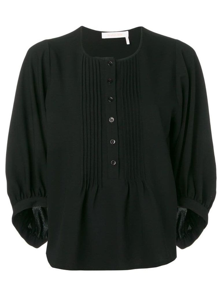 See By Chloé pleated bib blouse - Black