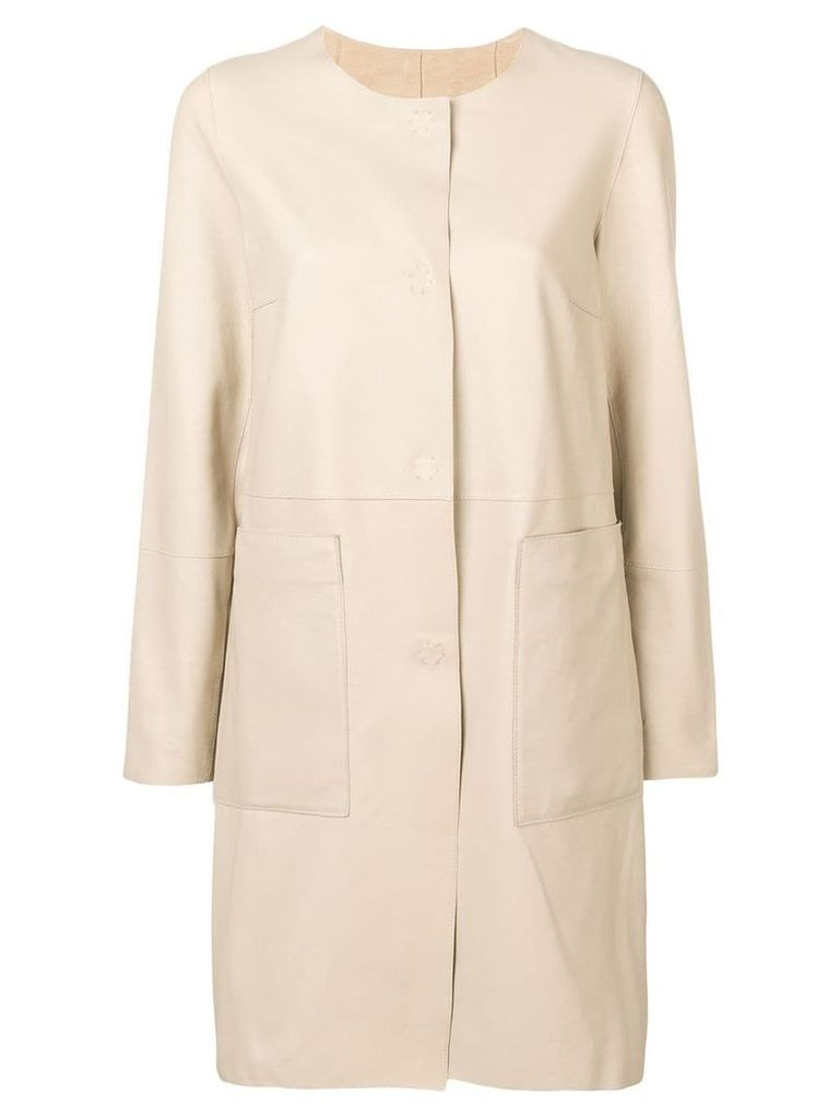 Yves Salomon double face coat - Neutrals