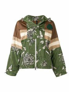 Moncler floral print rain jacket - Green