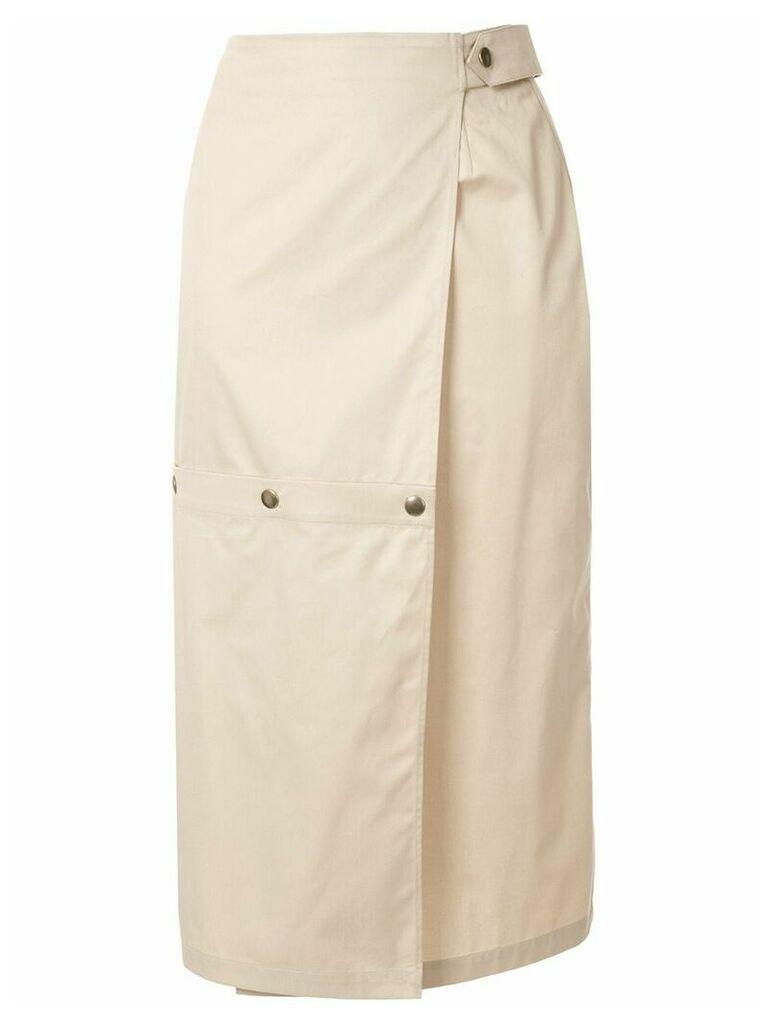 Boyarovskaya hybrid pencil skirt - Brown