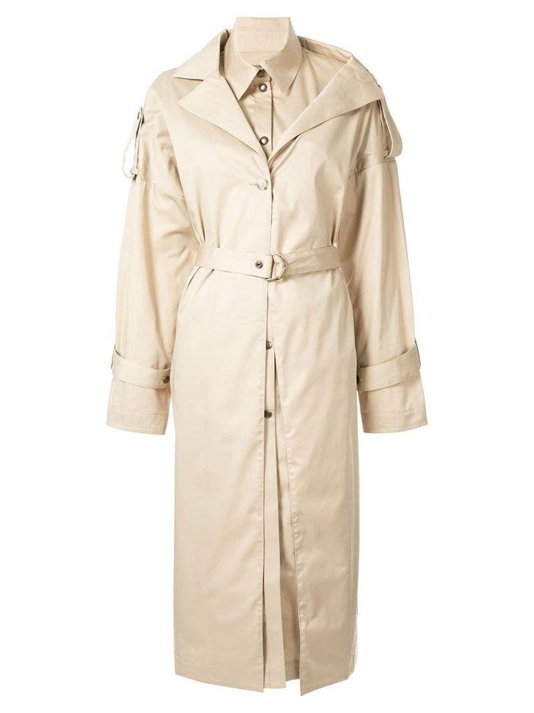 Boyarovskaya belted trench coat - Brown