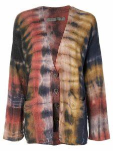 Raquel Allegra tie-dye effect cardigan - Multicolour