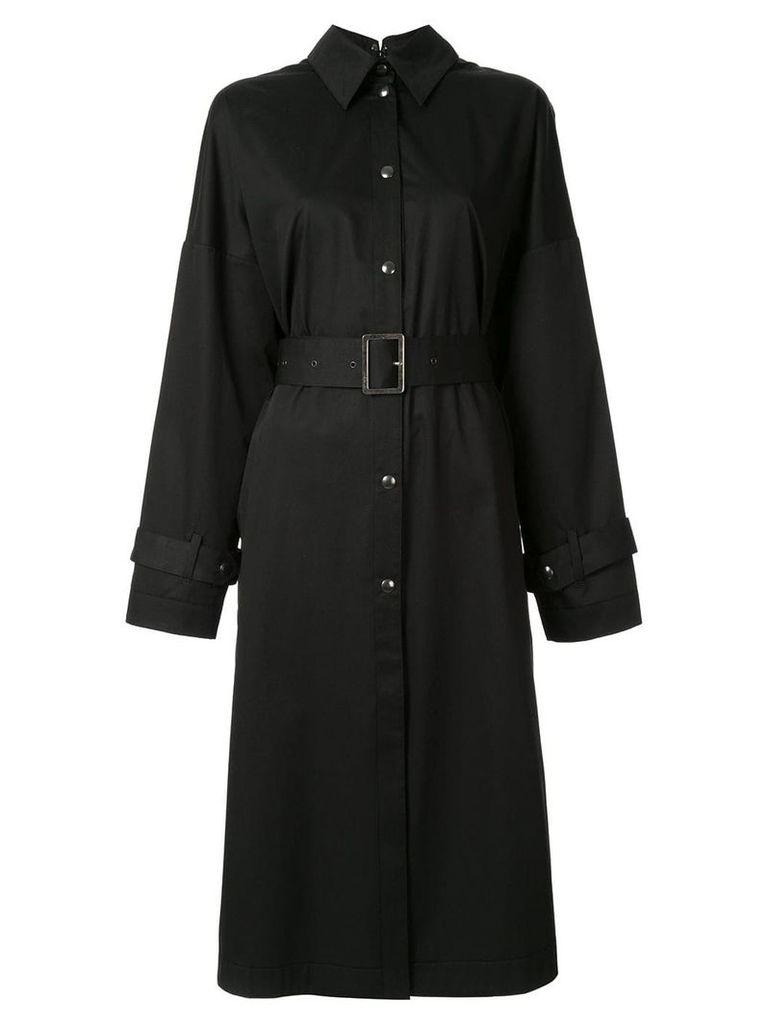Boyarovskaya lightweight single breasted coat - Black