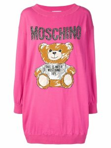 Moschino teddy intarsia sweater dress - Pink