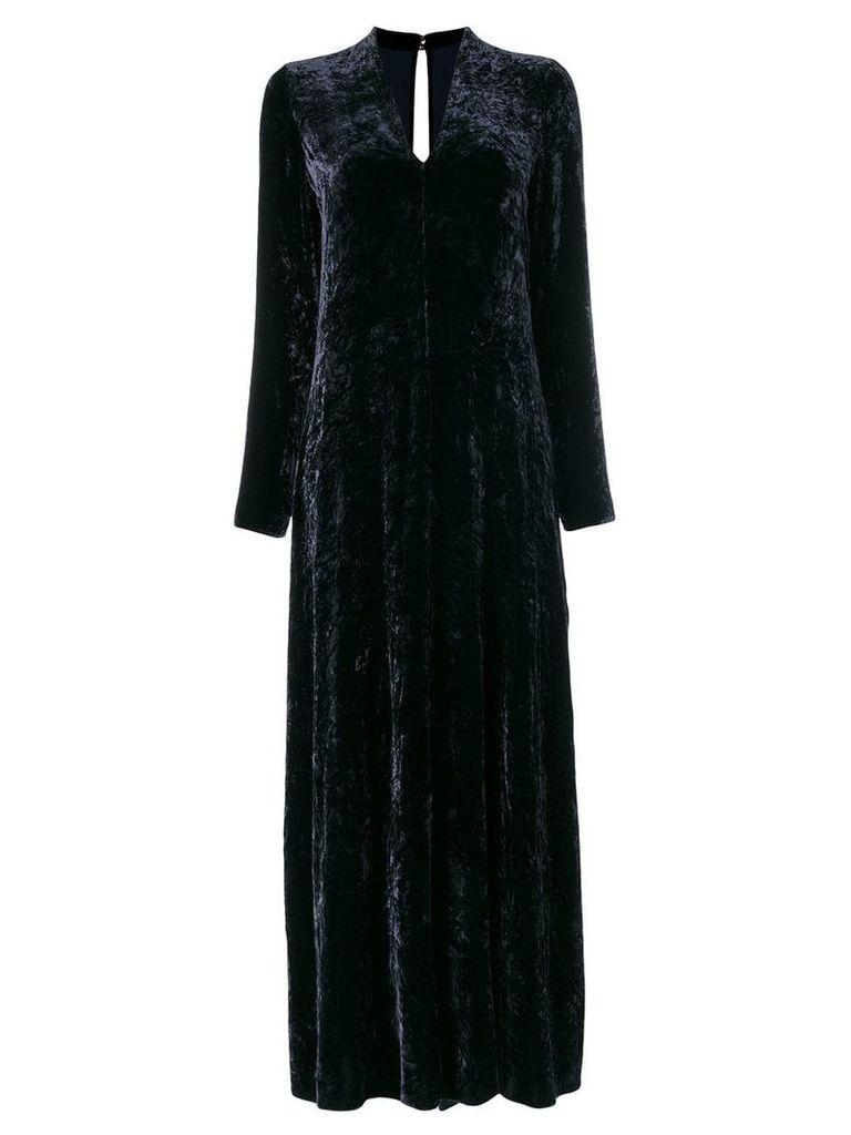 Forte Forte velvet flared long dress - Blue